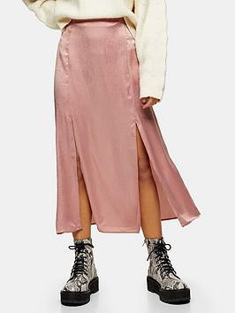 topshop-topshop-petite-plain-satin-austin-midi-skirt-pink