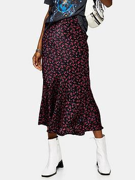 topshop-tall-black-ditsy-flounce-midi-skirt-black
