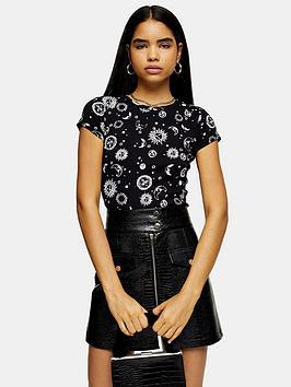 topshop-topshop-celestial-print-t-shirt-black