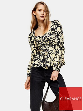 topshop-daisy-lace-up-prairie-blouse-yellow