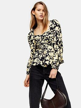 topshop-topshop-daisy-lace-up-prairie-blouse-yellow