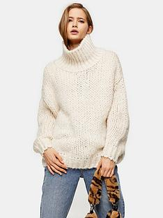 topshop-chunky-knit-funnel-neck-jumper-oat