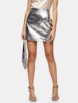topshop-pu-mini-skirt-silver
