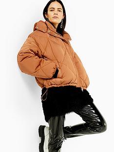 topshop-petite-padded-jacket-caramel