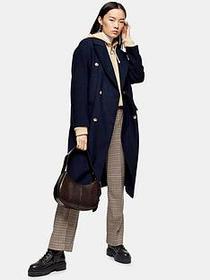 topshop-topshop-double-breasted-longline-coat-navy