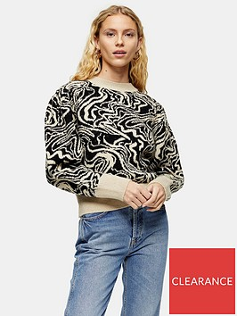 topshop-painted-squiggle-jumper-monochrome