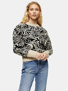 topshop-topshop-painted-squiggle-jumper-monochrome