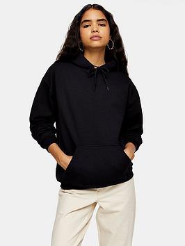 topshop-everyday-hoody-black