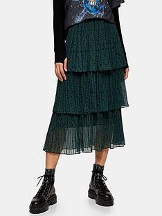 topshop-star-tiered-pleat-midi-skirt-green
