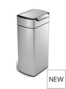 simplehuman-30-litre-touch-bar-bin-brushed-steel