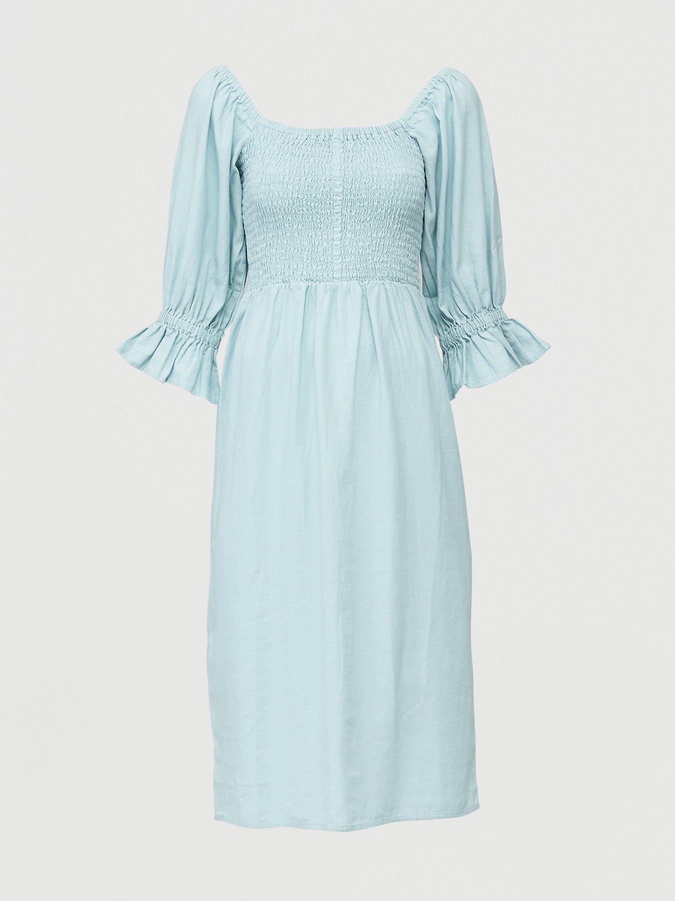 Womens Ladies Casual Sleeveless Striped Beach Swing Midi Dress Size 10 12 14 16
