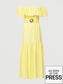 v-by-very-frill-bardot-maxi-dress-yellow