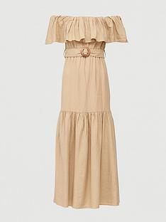 v-by-very-frill-bardot-maxi-dress-sand