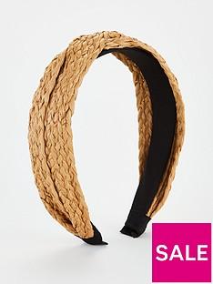 v-by-very-raffia-knot-hairband-brown