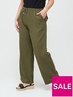 v-by-very-curve-linen-blend-trouser-khaki