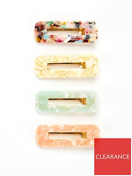 v-by-very-resin-hair-clips-4-pack-pink