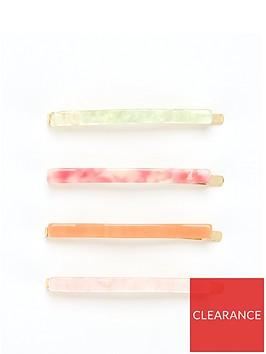 v-by-very-slim-resin-hair-slides-4-pack-green