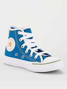converse-chuck-taylor-all-star-hi-childrens-trainers-blue