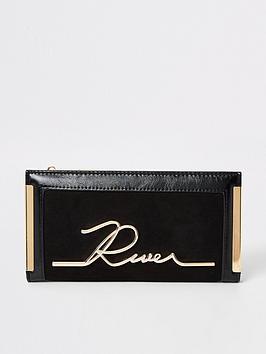 river-island-river-island-branded-foldout-purse-black