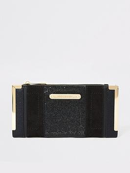river-island-river-island-diamante-embellished-foldout-purse-black