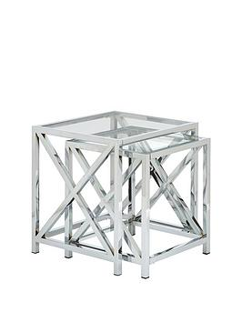 christie-glass-and-chrome-nest-of-2-tables