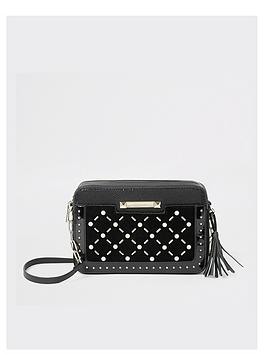 river-island-river-island-pearl-studded-cross-body-bag-black