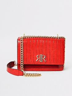 river-island-river-island-croc-embossed-underarm-bag-red