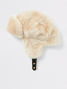 river-island-river-island-faux-fur-trapper-hat-beige