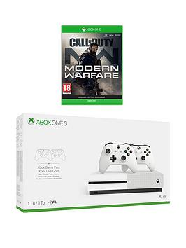 xbox-one-s-dual-controller-bundle-1tb-call-of-duty-modern-warfare-with-optional-extras