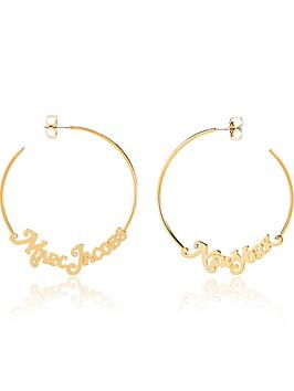 marc-jacobs-the-logo-hoop-small-earrings-gold