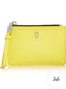 marc-jacobs-softshotnbsptop-zip-multi-purse-yellow