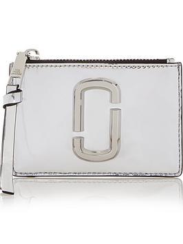 marc-jacobs-snapshot-mirror-finish-top-zip-multi-purse-silver