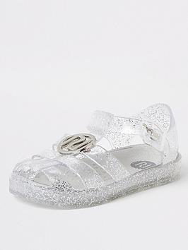 river-island-mini-mini-girls-ri-jelly-sandals-glitter