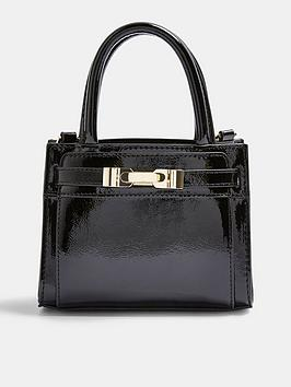 topshop-patent-cross-body-bag-black