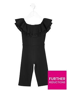 river-island-mini-mini-girls-lace-frill-bardot-jumpsuit-black