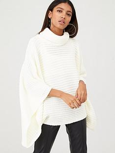in-the-style-in-the-style-x-billie-faiers-wide-flute-sleeve-knit-jumper-cream