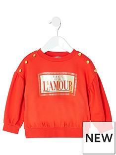 river-island-mini-mini-girls-foil-print-sweatshirt-red
