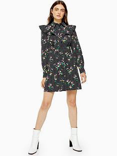 topshop-floral-yoke-mini-dress-multi