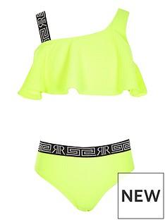 river-island-girls-neon-one-shoulder-bikini-set-yellow