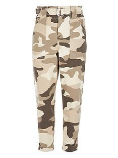 river-island-girls-camo-paperbag-trousers--beige