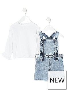 river-island-mini-mini-girls-denim-pinafore-dress-and-tshirt-blue