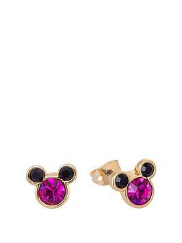 disney-disney-minnie-mouse-pink-crystal-stud-earrings