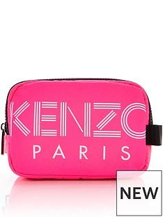 kenzo-paris-nylon-cosmetic-bag-pink