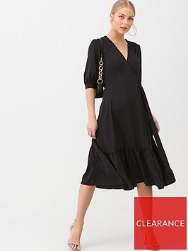 v-by-very-sofia-wrap-frill-hem-midi-dress-black
