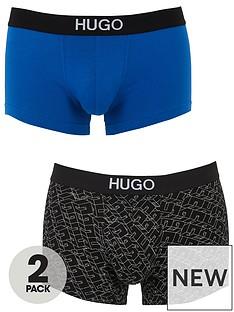 hugo-bodywear-2-pack-mixed-trunk-boxer-shorts-blackblue