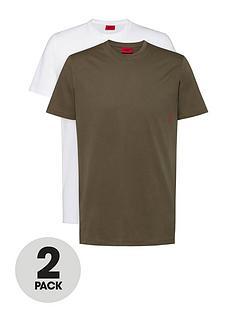 hugo-bodywear-t-shirt-2-pack-khakiwhitenbsp