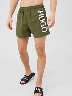 hugo-abas-logo-swim-shorts-khaki