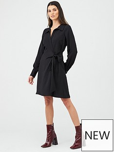v-by-very-tie-side-formal-tunic-dress-black