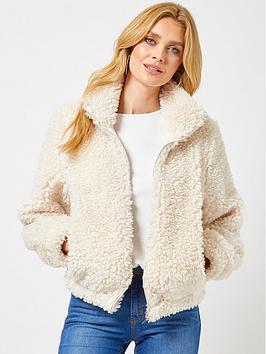 dorothy-perkins-teddy-jacket-cream