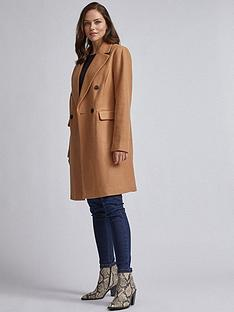 dorothy-perkins-double-breasted-coat-brown